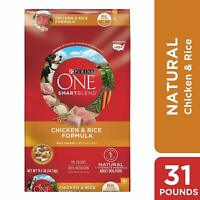 Purina ONE Natural Dry Dog Food; SmartBlend Chicken & Rice Formula - 31.1 lb.Bag