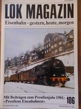 LOK MAGAZIN 106-Jan/Feb 1981 ** Preußische T-20 Liverpool-Manchester D'D-4hv-Lok