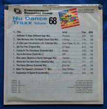 ERG Nu Dance Traxx Volume 68 CD Promo 11 Mixes Alcazar Diana Fox ATB Puretone