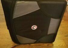 Case-it Mighty Zip Tab 4-Inch Zipper Binder, Black and Grey New *No Strap
