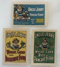 3 c 1915 UNCLE JERRY Buckwheat PANCAKE FLOUR Advertising POSTER STAMP