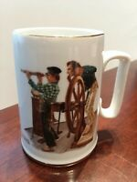 Norman Rockwell Museum Collection 1985 River Pilot Mug Excellent Condition