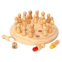 Wooden Round Memory Match Stick Chess Game Toy Children Early Educational Blocks