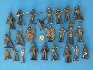 VTG LOT 24 INDIANS POLICEMAN CAST LEAD ARMY SOLDIERS CALVARY TOY Unpainted MIXED