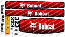 BOBCAT 323 Mini Escavatore decalcomania Set
