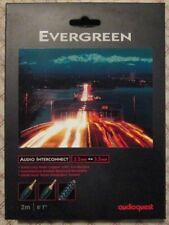 """AudioQuest Evergreen Audio Interconnect Cable 2M 6' 7"""" EVERG02M 3.5mm to 3.5mm"""
