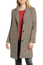 VELVET By Graham & Spencer Graham Houndstooth Wool Plaid Long Coat S $298 B18