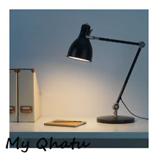 IKEA Arod Desk Work Lamp with LED Bulb, dark gray anthracite NEW