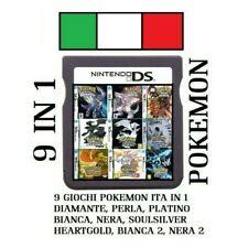 9 GIOCHI POKEMON IN 1 NDS 3DS NINTENDO DS PLATINO PERLA BIANCA DIAMANTE NERA 2DS