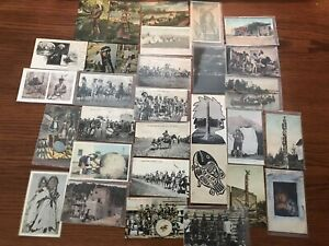 Native American / Indian Antique Postcards Lot Of 30