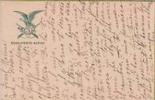 A7786) WW1, 3 REGGIMENTO ALPINI. VIAGGIATA NEL 1916 DA FINALMARINA (GENOVA).