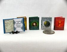 GAME OF THRONES (5) Miniature Books 1:12 Dollhouse Scale A SONG OF ICE AND FIRE