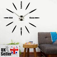 Modern Large Wall Clock 3D DIY Home Decoration Living Room Bedroom Office
