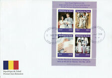 Chad 2019 FDC Prince Archie Royal Baby Harry 4v M/S Cover I Royalty Stamps