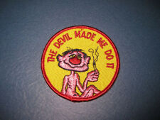 Vintage Marijuana Patch! Devil Made Me Do It Hippie Weed Skateboard Badge