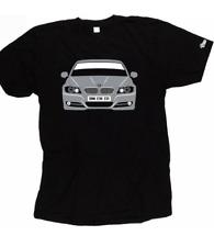 Custom HTees T-Shirt-BM 3-Ser E90 E91 2009-color de coche, Pick & Plate, por ejemplo E91BMW