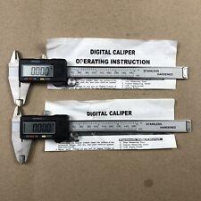 Lot Of 2 Digital Electronic Gauge Stainless Steel Vernier 150mm 6 Inch Caliper