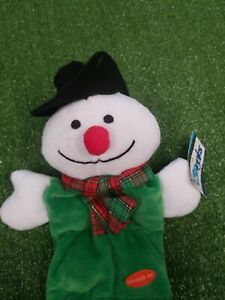 Grriggles Holiday Squeaktacular Christmas Snowman Dog Plush Tug Toy Interactive