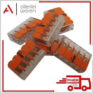 Wago Klemmen 221-415 Compact mit Hebel | Verbindungsklemme 5polig | Klemme | Neu