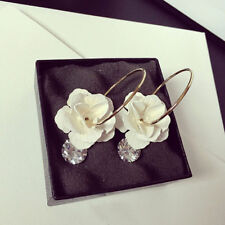 Korean Jewelry Style Large Stud Flower Earrings Women Fashion Exaggerated