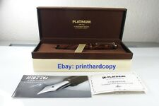 Platinum 3776 Ebonite Marble With Gold Plated Trim Fountain Pen 14k Nice