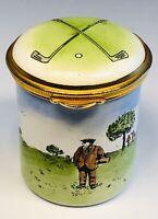 Staffordshire English Enamels Golf Tall Trinket Box