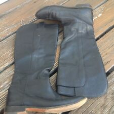 Frye Paige Tall Leather Riding Knee High Boots 9.5 77535 Black Moto Biker Shoes