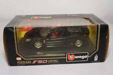 V 1:24 BBURAGO BURAGO 1572 FERRARI F50 F 50 1995 BLACK MINT BOXED