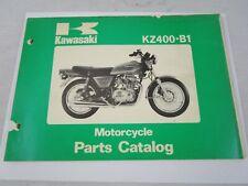 OEM Kawasaki 1978 KZ400 B1 Parts Catalog Fiche Book KZ 400 99910-1007-01