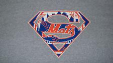 ONLY 1 on EBAY! NY METS SUPERMAN COMIC BOOK Logo T-Shirt Size 2XL Baseball MLB