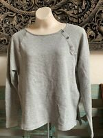NWT Standard JAMES PERSE Women's Size 0 Heather Grey Knit Shirt Retail $135