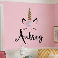 Unicorn Wall Sticker Removable Vinyl Decal For Girls Room Unicorn Wallpaper
