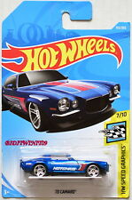 HOT WHEELS 2018 HW SPEED GRAPHICS '70 CAMARO #7/10 BLUE