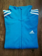 Adidas Sweat Jacket Sports Ladies Blue Light Blue Tracksuit Top New