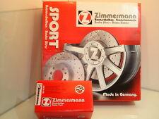 Bmw E87 série 1 paire de zimmermann avant sport disques de frein & garnitures (34116768933)