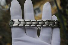 Neu Magnetarmband Edelstahlarmband Armband silber Magnete bracelet 20 cm Schmuck