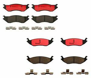Brembo Front & Rear Ceramic Brake Pad Set Kit For Dodge Durango Ram 1500 ST SLT