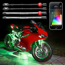 6 Pod 2 Strip XKchrome iOS Android App Control Motorcycle LED Accent Light Kit