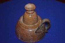 Vintage Ceramic Brown Pitcher Great Condition Floral Design on Handle