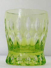 Faberge Na Zdorvye lime paridot cut to clear crystal Dof Rocks Whiskey Signed
