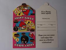 ANGRY BIRDS BIRTHDAY PARTY INVITATIONS PK8 NEW!