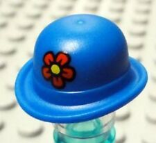 LEGO - Minifig, Headgear Hat, Bowler with Red Flower Pattern