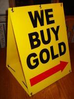WE BUY GOLD w/ARROW Sandwich Board Sign 2-sided Kit NEW