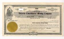 Victoria Mining Company Stock Tintic Mormon Provo Utah