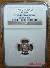 1996 China 1/20oz platinum panda coin NGC PF68 Ultra Cameo