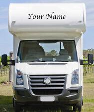 Personalised Motorhome Caravan Name 2 x Sticker vinyl Decal.