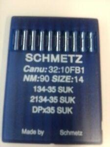 AIGUILLES MACHINE A COUDRE INDUSTRIELLE (x10) schmetz 90/14 neuf