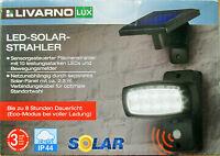 LED Solar Außen Leuchte Wand Strahler Spot Terrasse Garten Lampe Bewegungsmelder