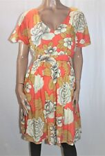Honeysuckle Beach Brand Multi Floral Short Sleeve Day Dress Size L BNWT #Ti39