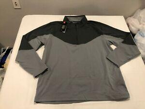 NWT $69.99 Under Armour Golf Mens Midlayer 1/2 Zip LS Shirt Gray / Gray XXL